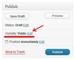 WordPress Publish (Change Visibility)